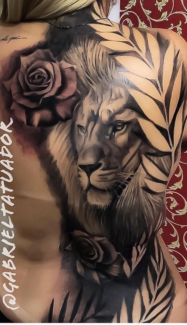 tatuagem-feminina-de-leão-102