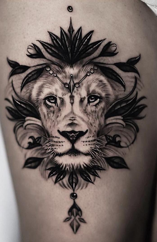 tatuagem-feminina-de-leão-108