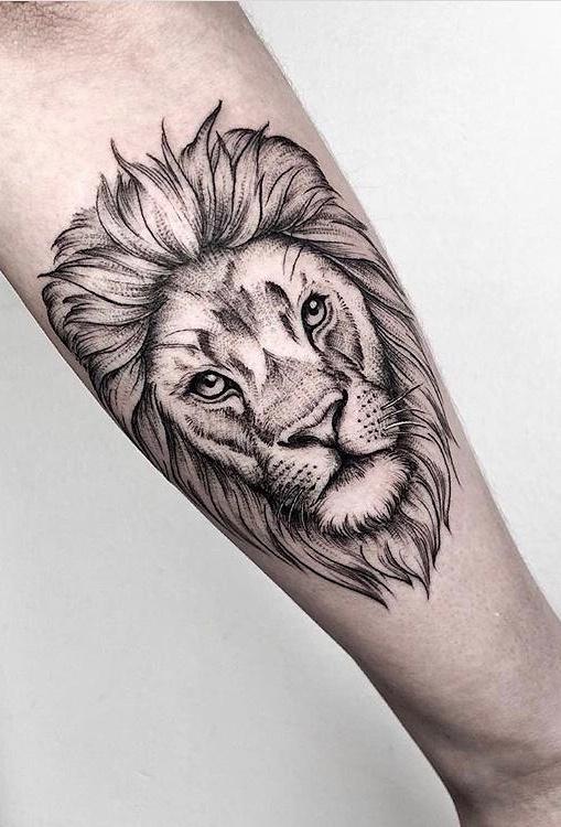 tatuagem-feminina-de-leão-109