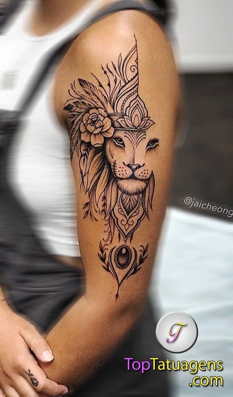 tatuagem-feminina-de-leão-53