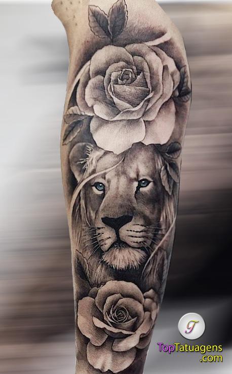 tatuagem-feminina-de-leão-54