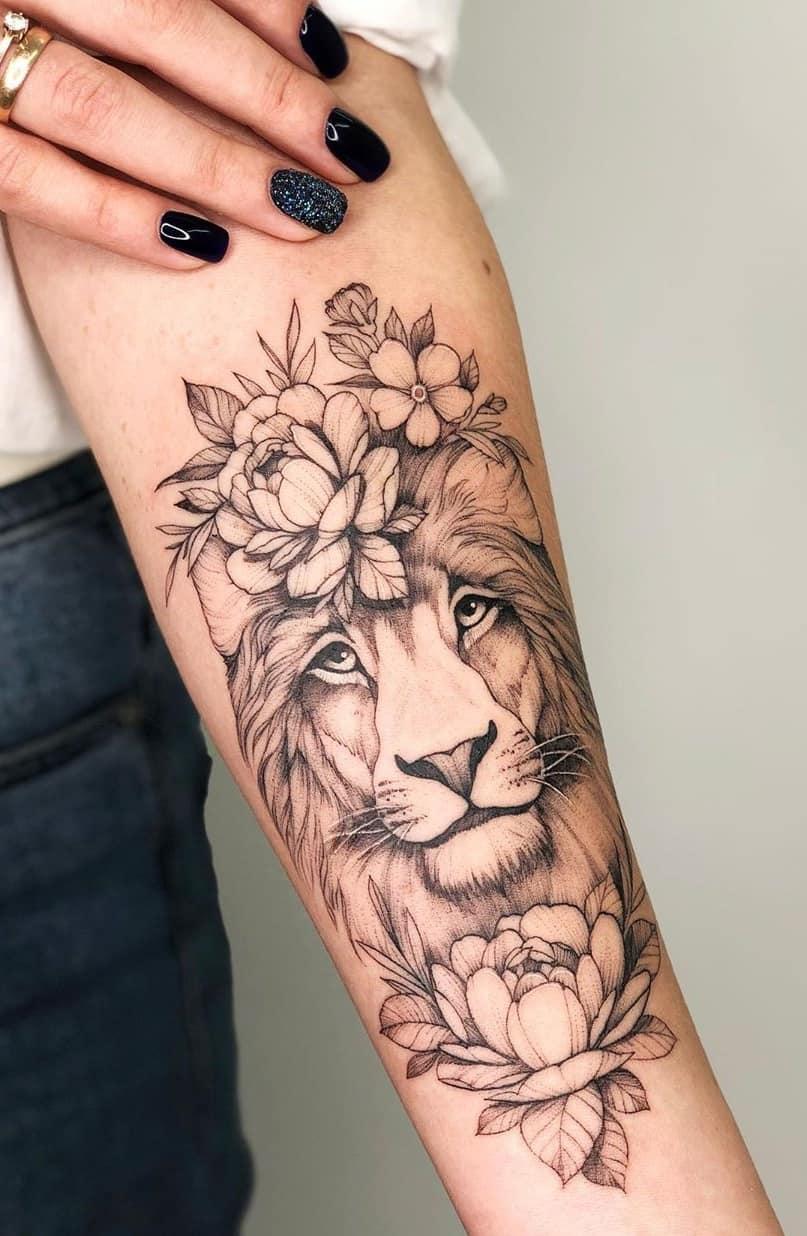 tatuagem-feminina-de-leão-60