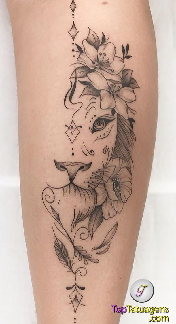 tatuagem-feminina-de-leão-61