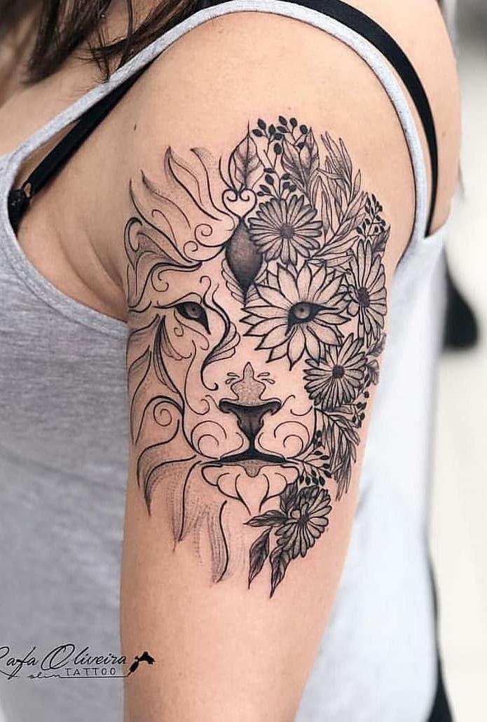 tatuagem-feminina-de-leão-63