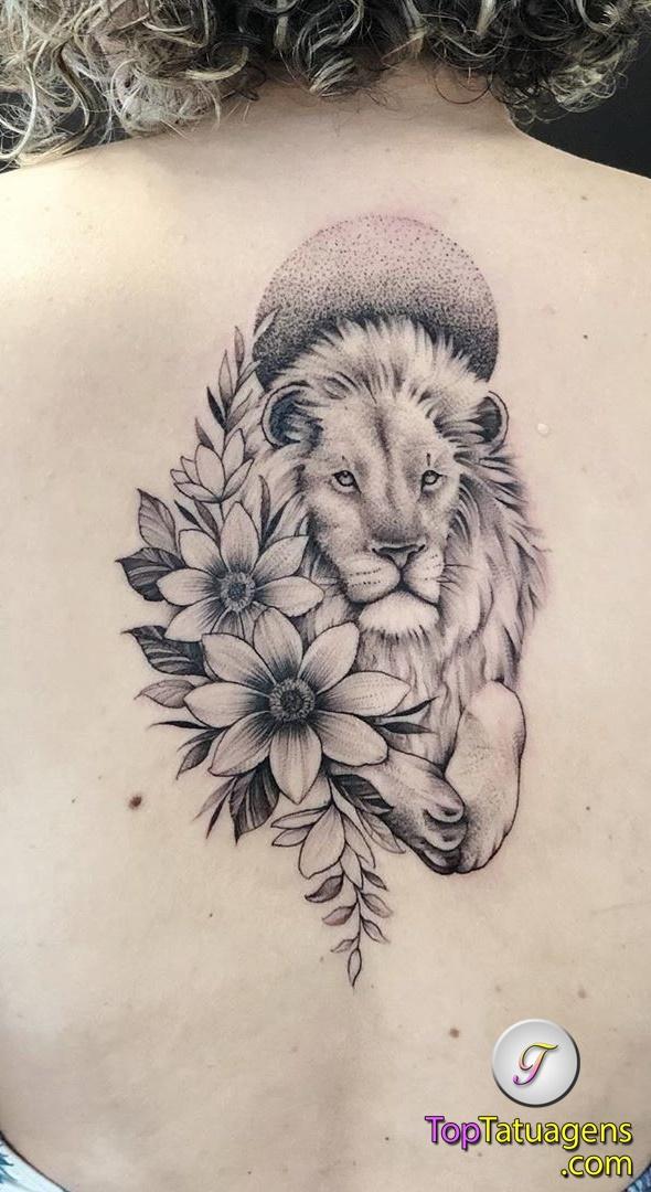 tatuagem-feminina-de-leão-66