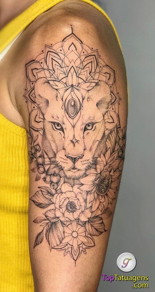 tatuagem-feminina-de-leão-67