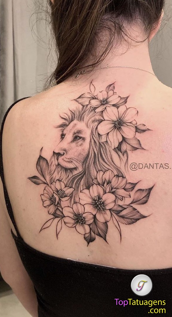 tatuagem-feminina-de-leão-68