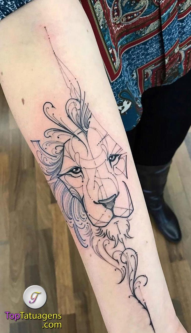 tatuagem-feminina-de-leão-69