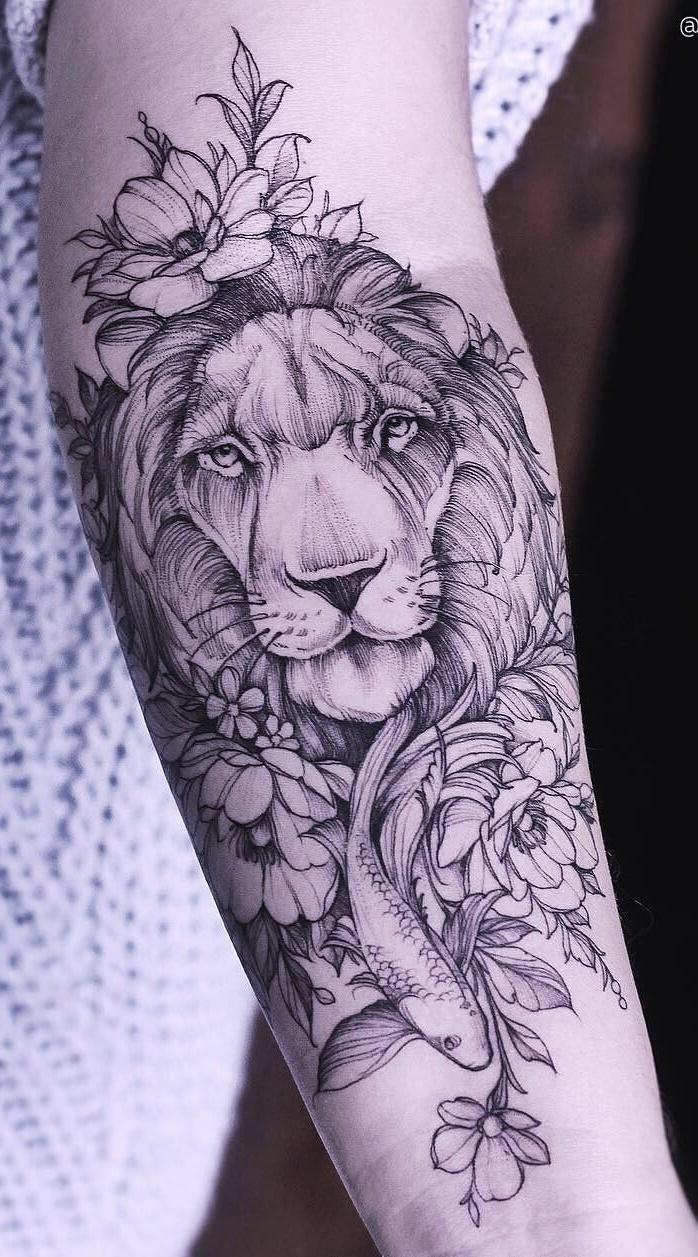 tatuagem-feminina-de-leão-83
