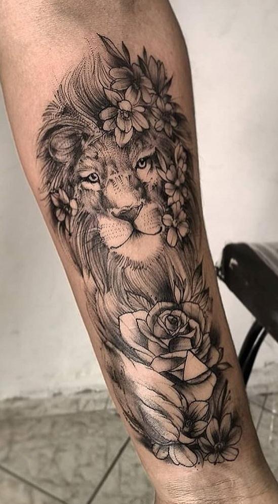 tatuagem-feminina-de-leão-84