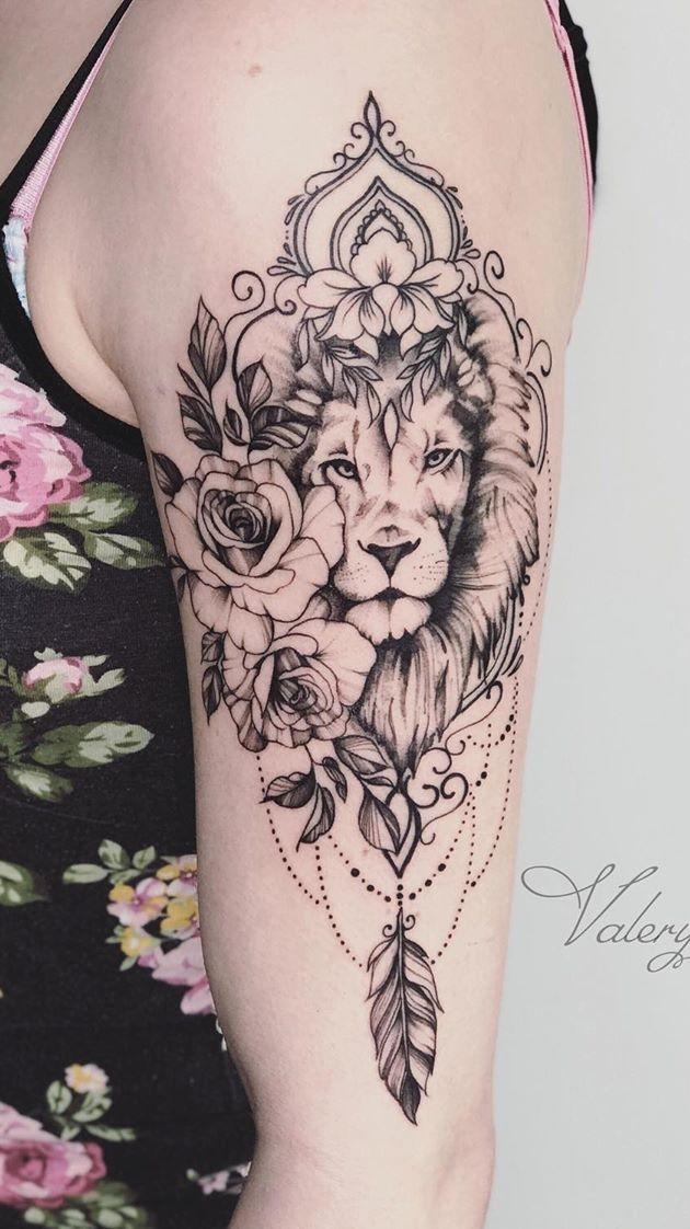 tatuagem-feminina-de-leão-87