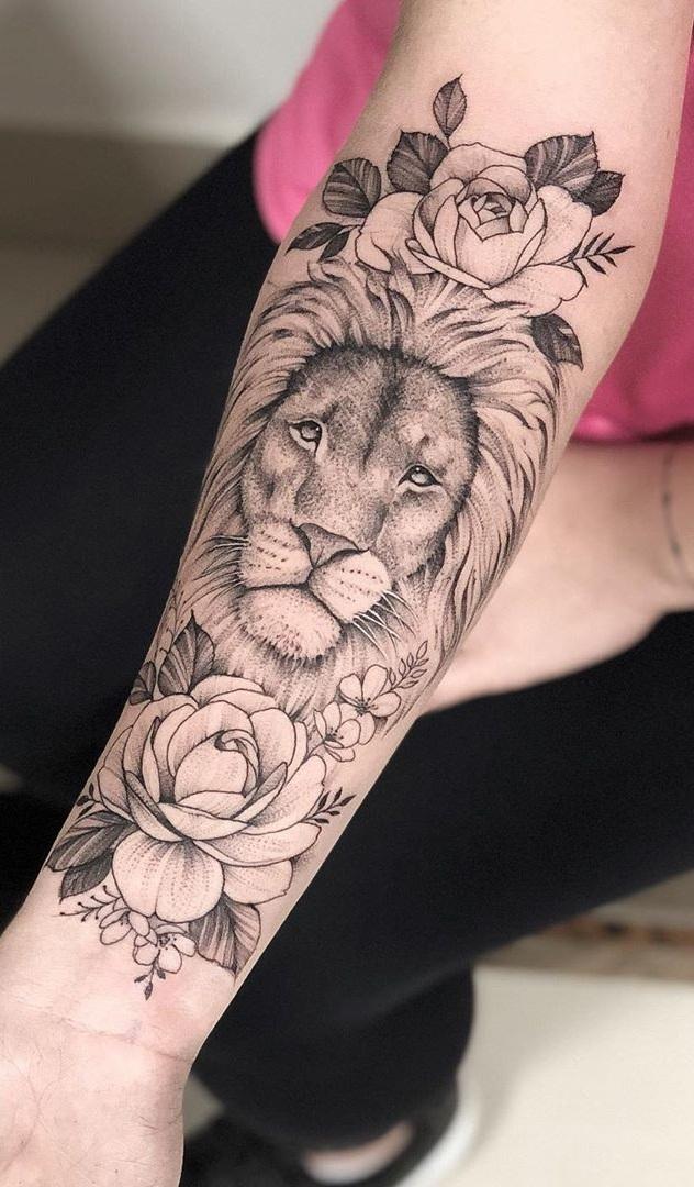 tatuagem-feminina-de-leão-93