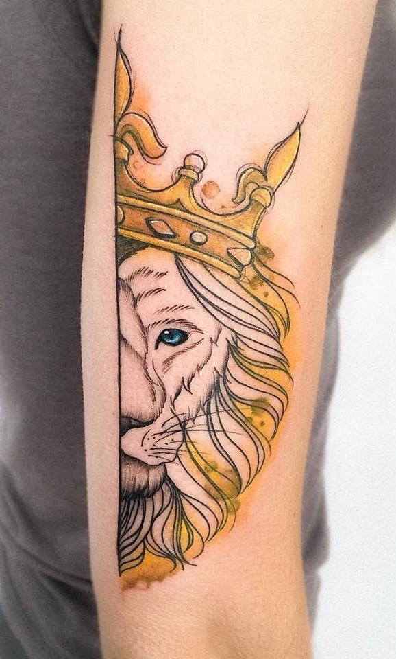 tatuagem-feminina-de-leão-99