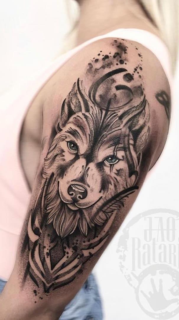 tatuagem-feminina-de-lobo-1
