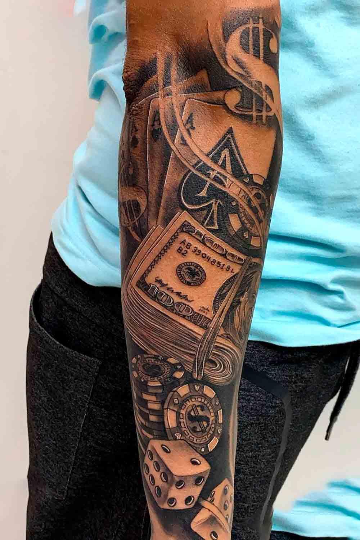 tatuagem-no-antebraco-de-jogos-de-azar-1