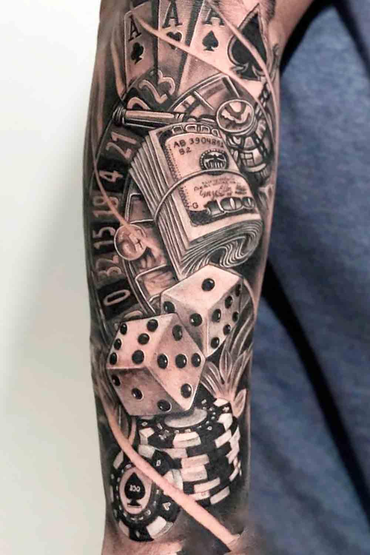 tatuagem-no-antebraco-de-jogos-de-azar-2