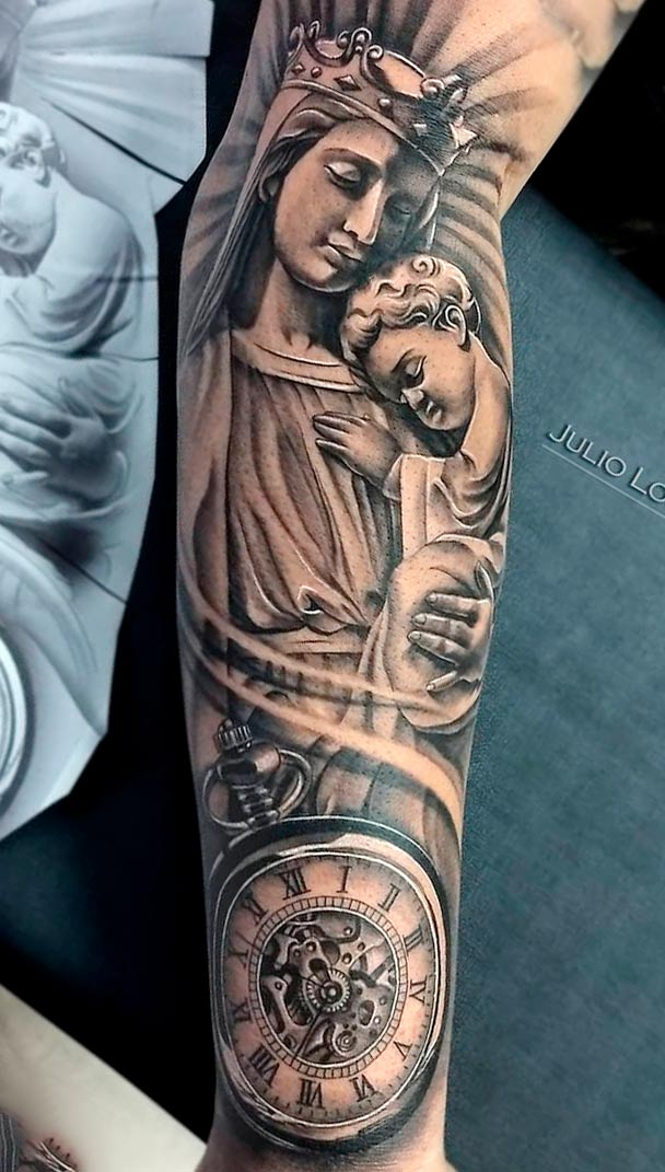 tatuagem-religiosa-com-relogio-2