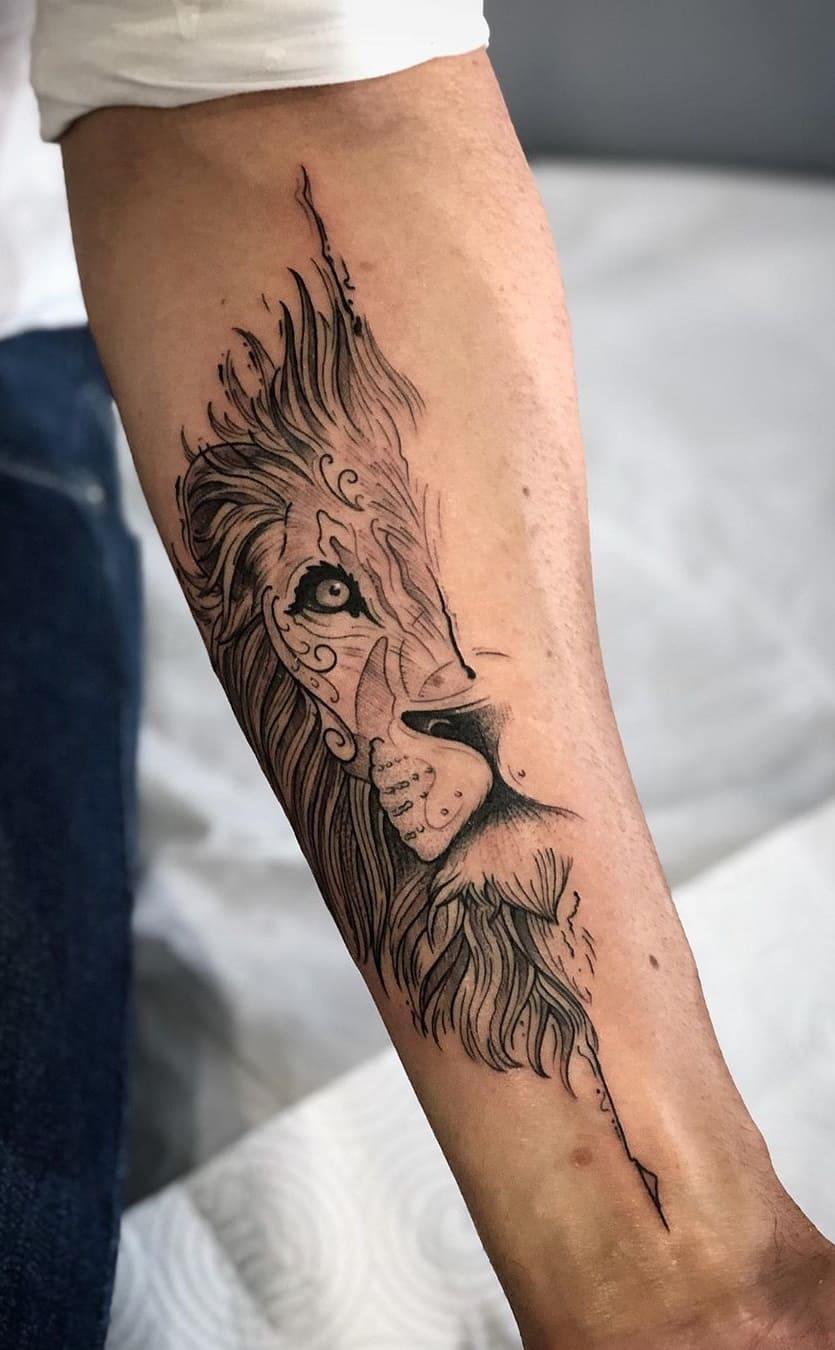 tatuagens-de-leão-masculinas-2
