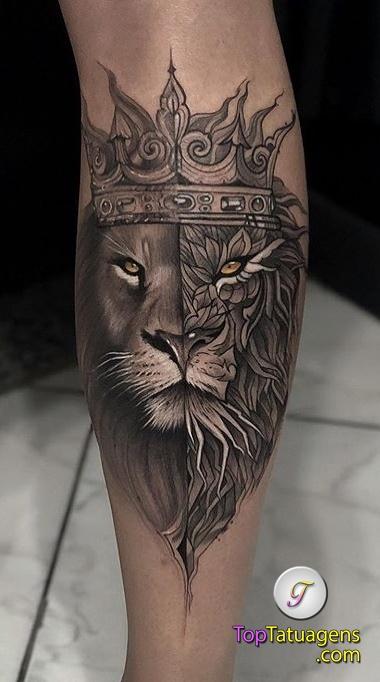 tatuagens-de-leão-masculinas-27