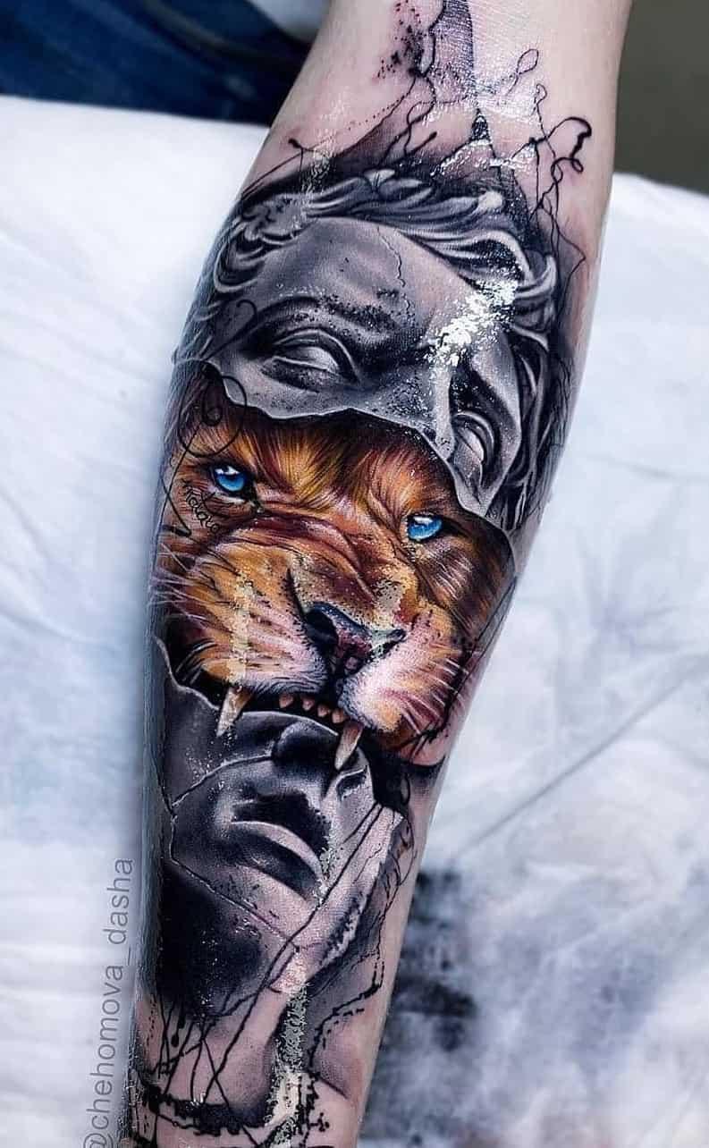 tatuagens-de-leão-masculinas-35