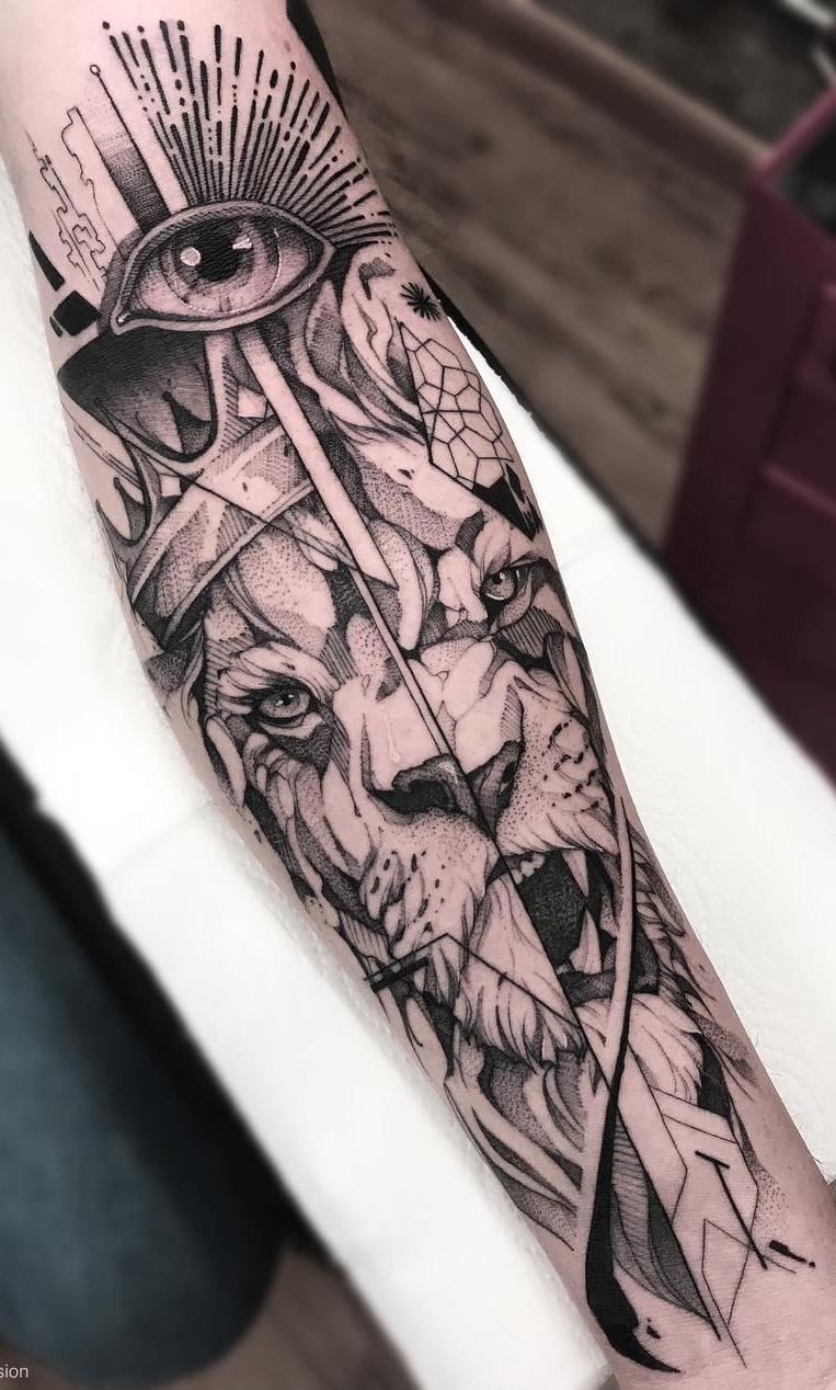 tatuagens-de-leão-masculinas-51