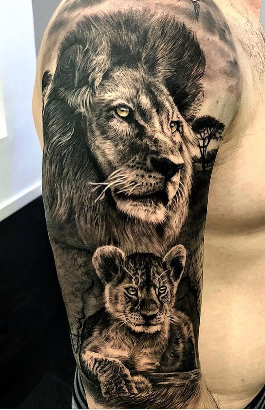 tatuagens-de-leão-masculinas-70