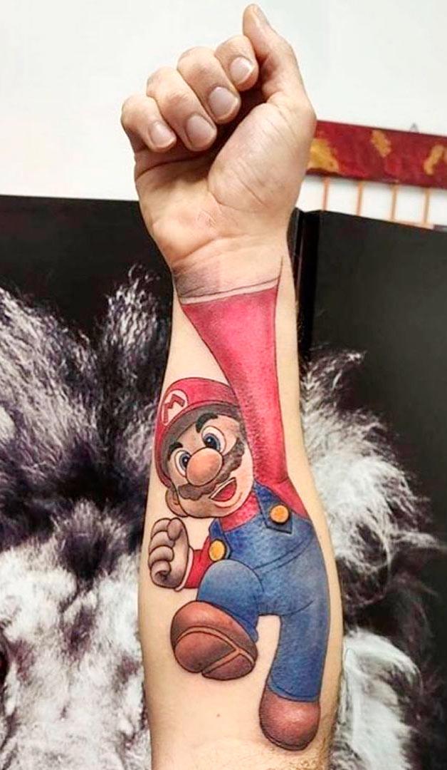tatuagem-3d-do-mario-bros