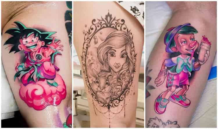 25 Tatuagens De Desenhos Animados Inspiradoras Top Tatuagens