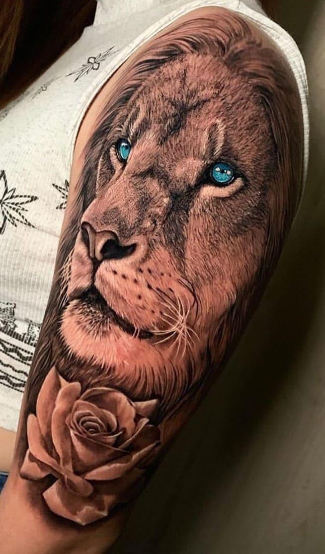fotos-de-tatuagens-de-leão-femininas-1