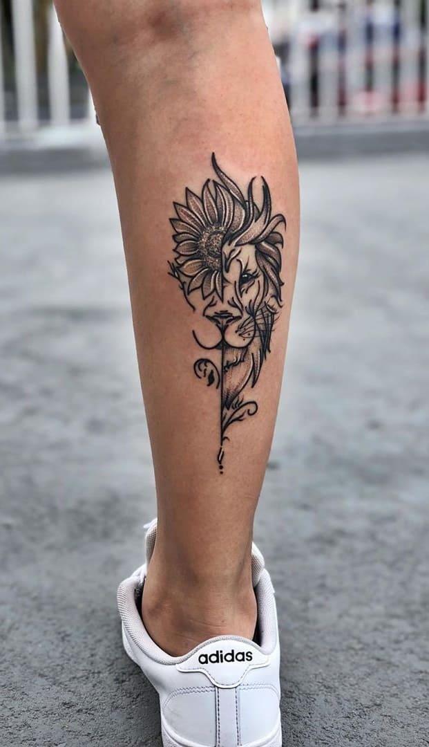 fotos-de-tatuagens-de-leão-femininas-14