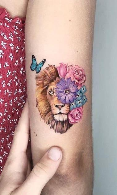 fotos-de-tatuagens-de-leão-femininas-17