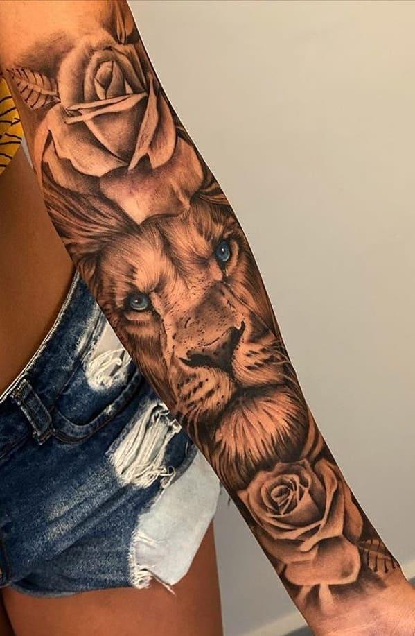 fotos-de-tatuagens-de-leão-femininas-7