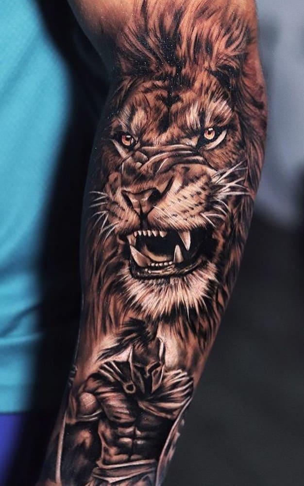 fotos-de-tatuagens-de-leão-masculinas-12