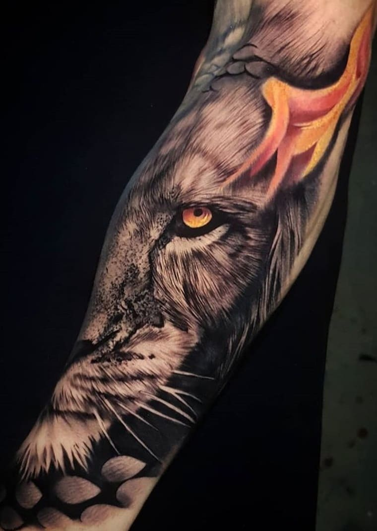 fotos-de-tatuagens-de-leão-masculinas-17