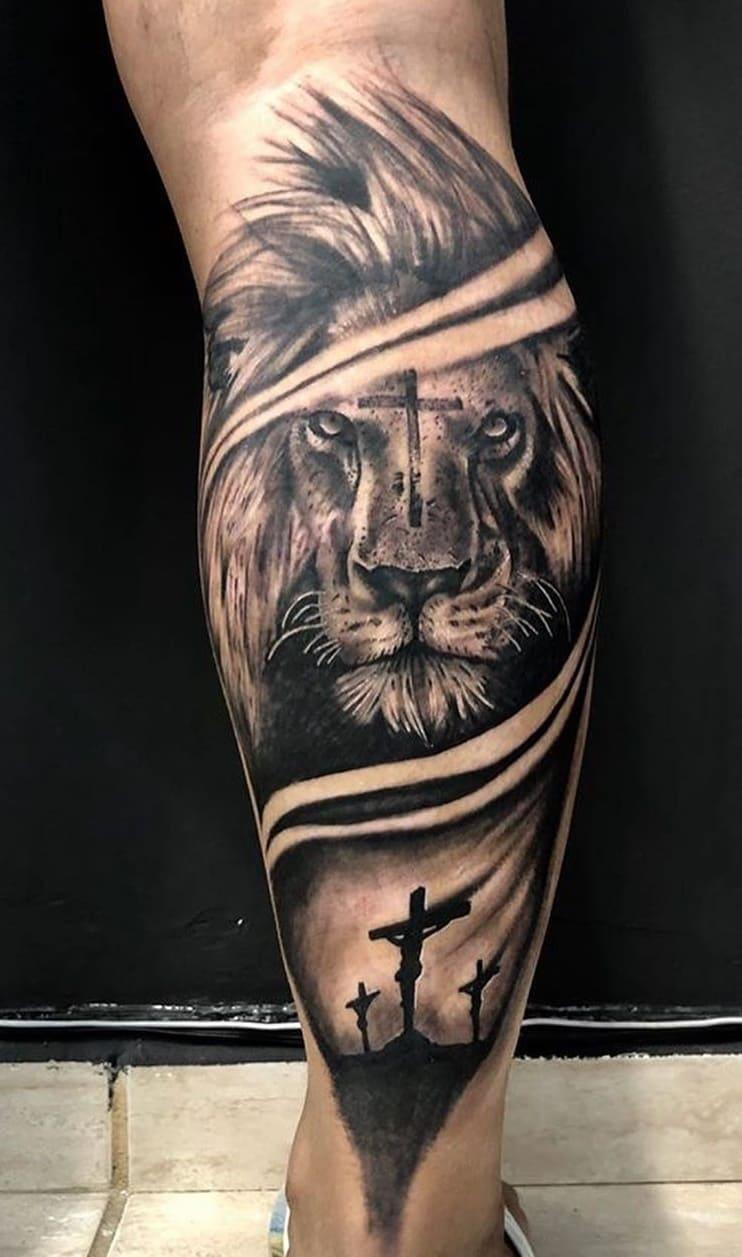 fotos-de-tatuagens-de-leão-masculinas-18