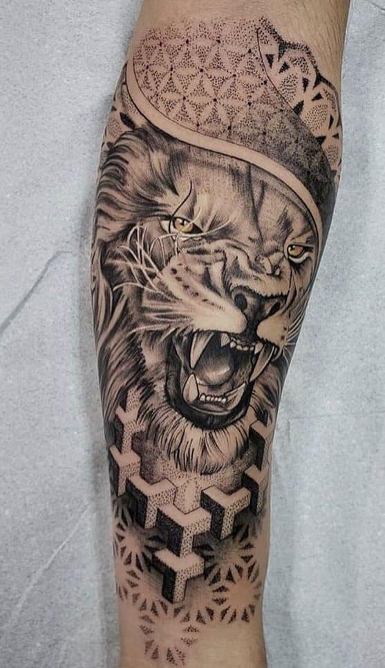 fotos-de-tatuagens-de-leão-masculinas-19