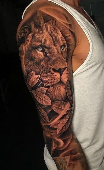 fotos-de-tatuagens-de-leão-masculinas-9