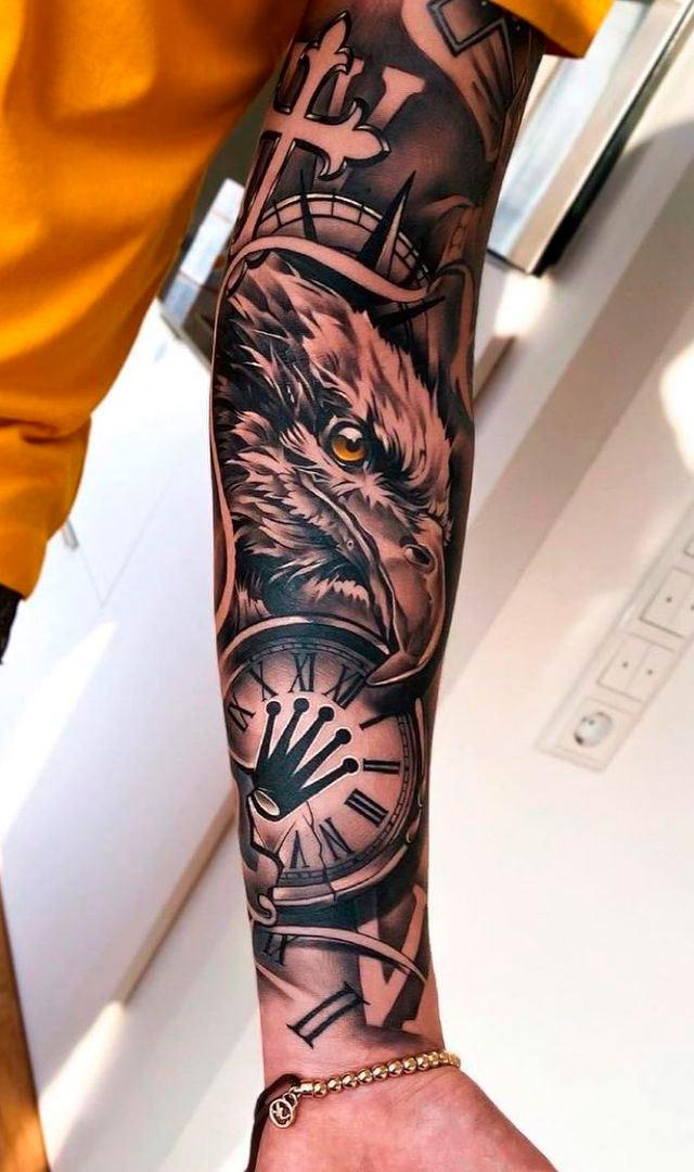 tatuagem-de-aguia-no-antebraco