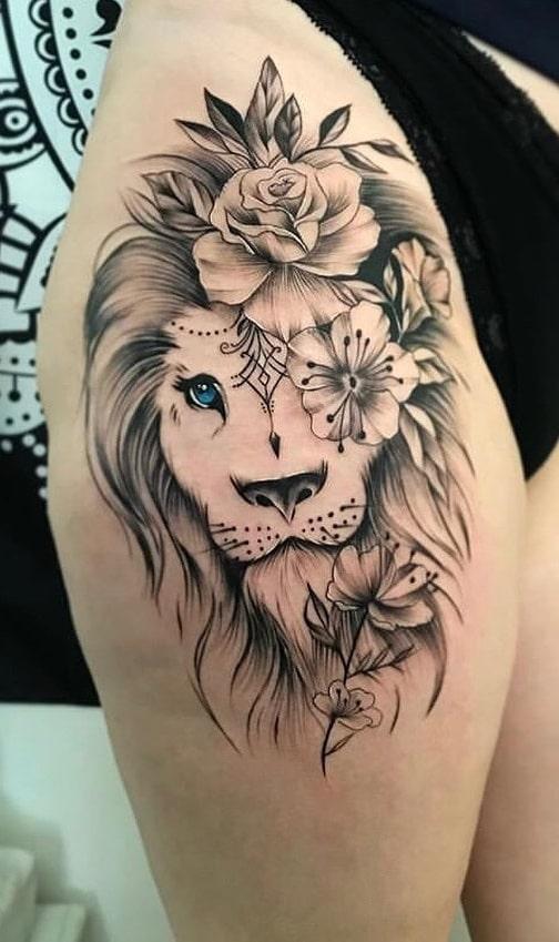 tatuagem-de-leão-na-coxa-1