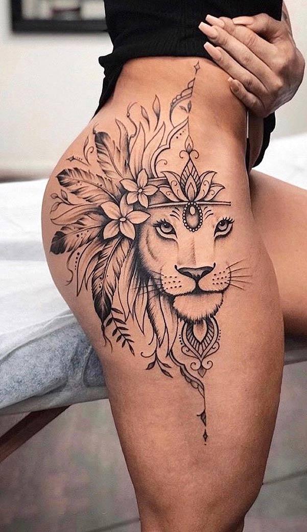 tatuagem-de-leão-na-coxa