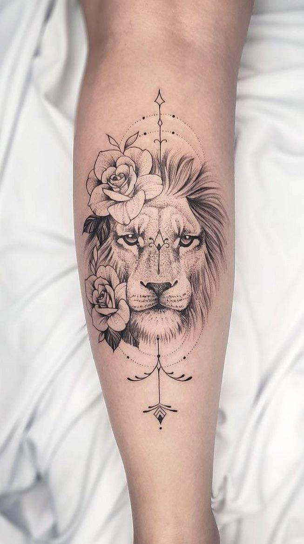 tatuagem-de-leao-no-antebraco-feminina-e-delicada