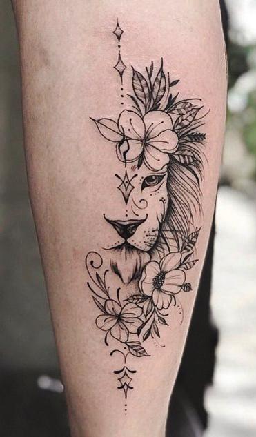 tatuagem-feminina-e-delicada-de-leao-2020