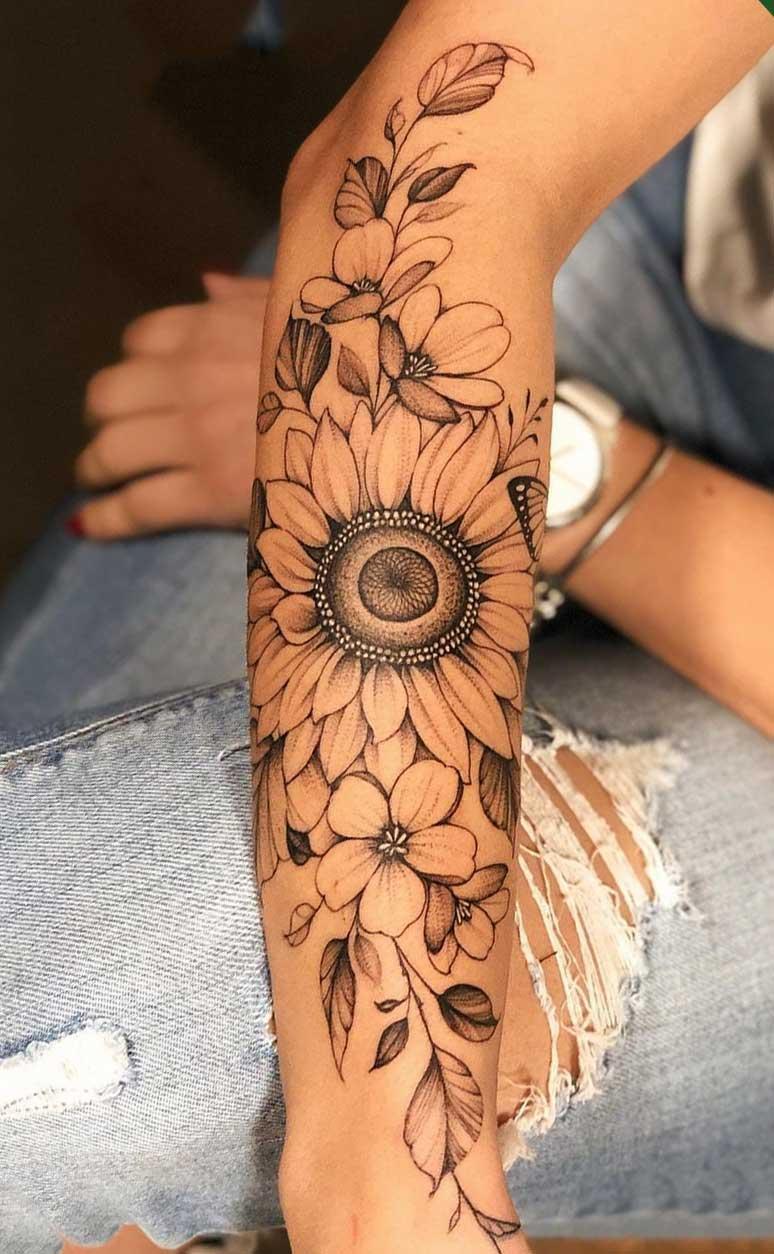 tatuagem-de-girassol-no-antebraco-feminino