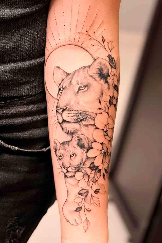 tatuagem-de-leoa-no-antebraco