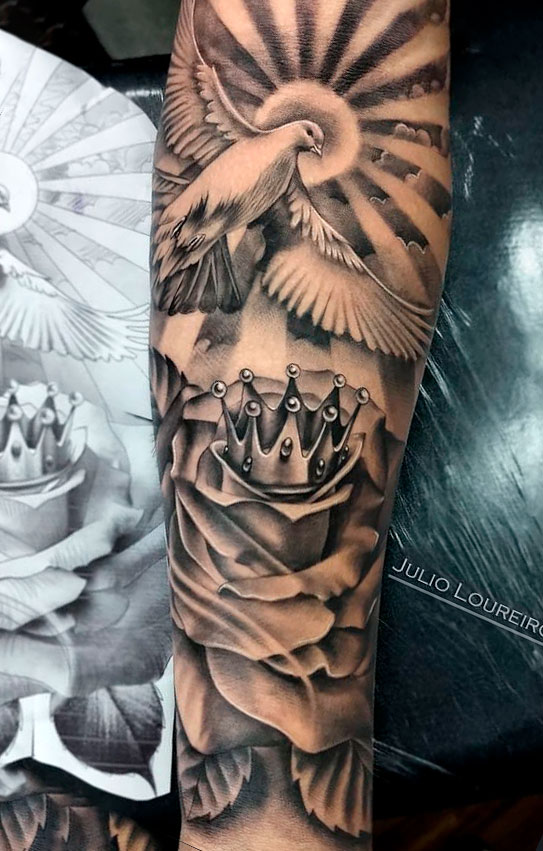 tatuagem-de-pomba