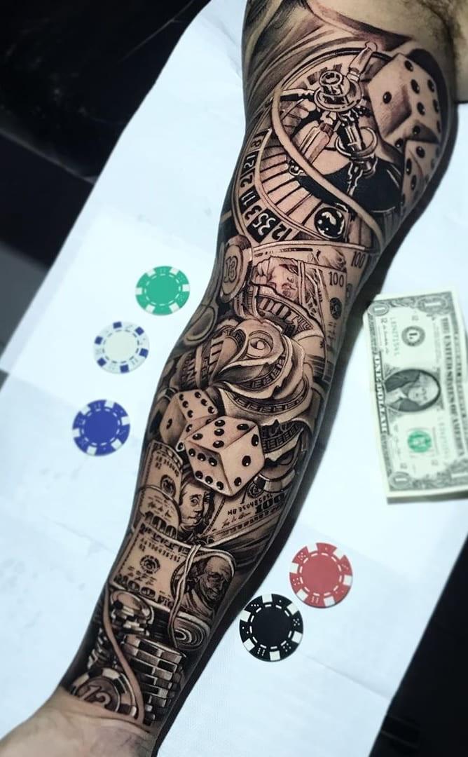 Braço-fechado-de-tatuagens-masculinas-para-se-inspirar-1