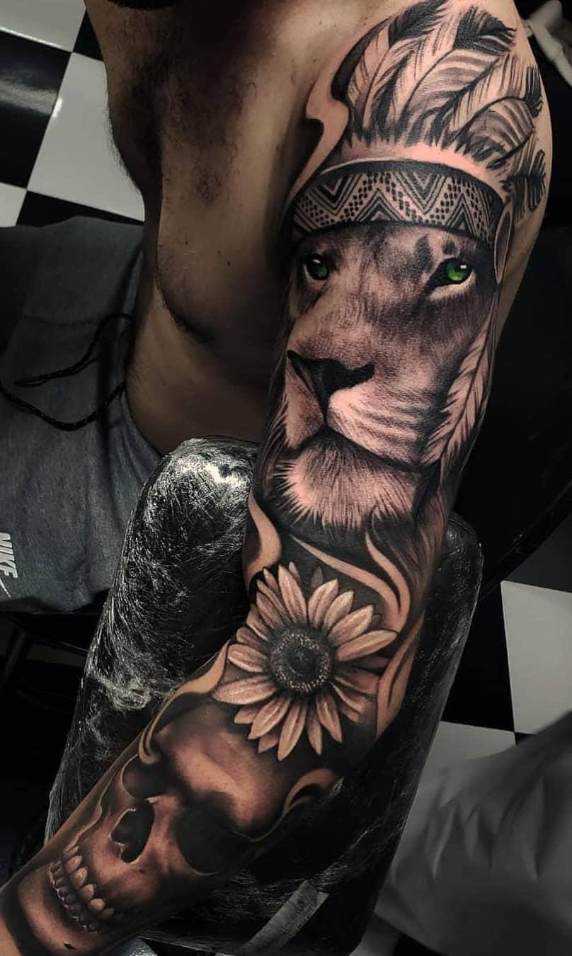 Braço-fechado-de-tatuagens-masculinas-para-se-inspirar-3