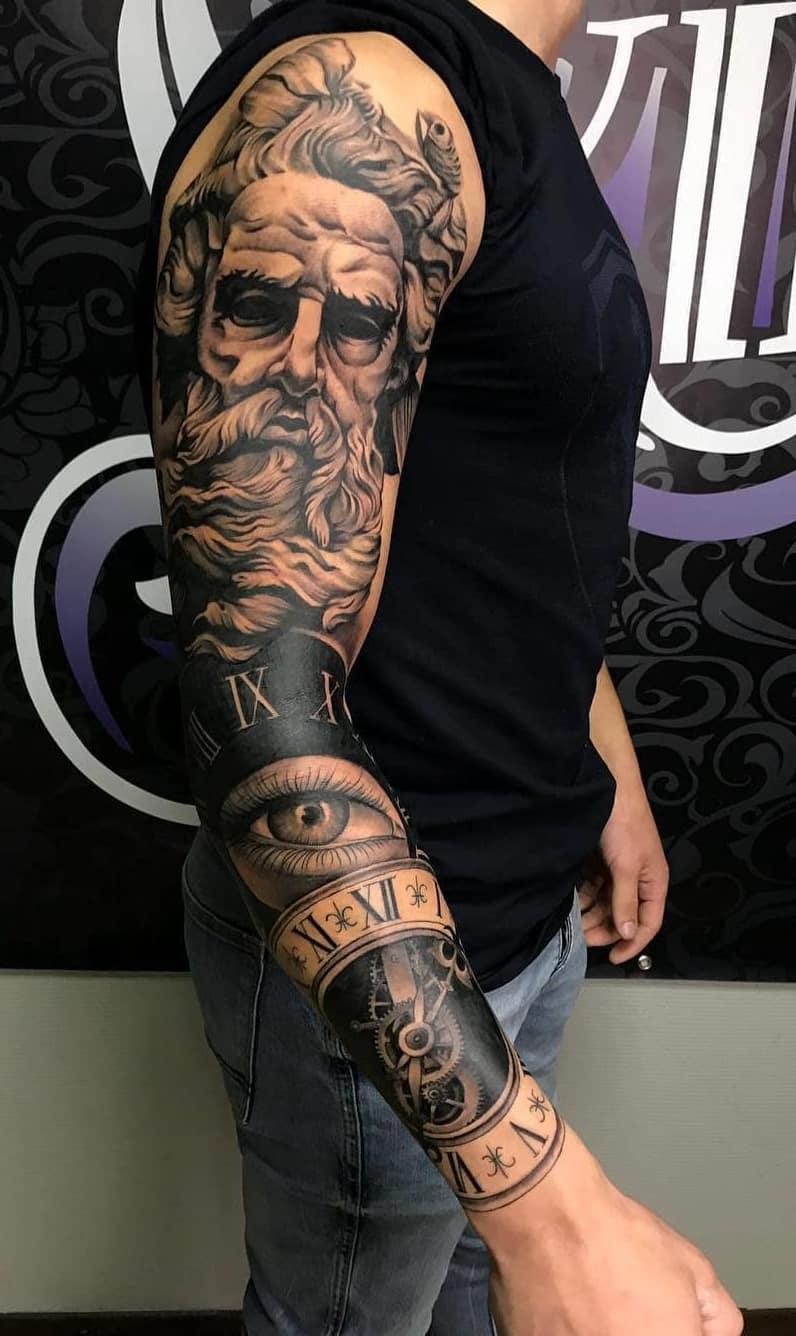 Braço-fechado-de-tatuagens-masculinas-para-se-inspirar-4