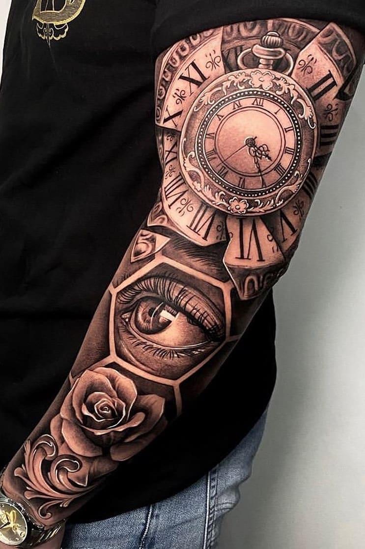 Braço-fechado-de-tatuagens-masculinas-para-se-inspirar-6