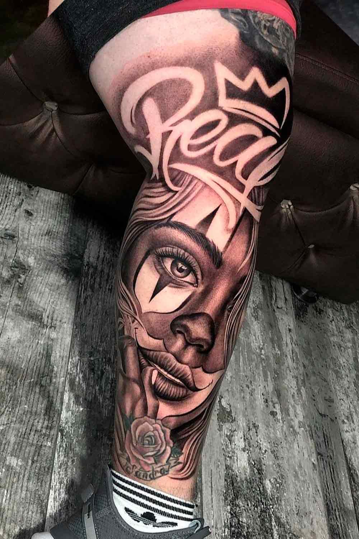 tatuagem-de-mulher-chicana-na-perna